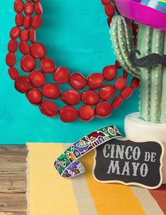 Happy Cinco de Mayo! How spicy is your style? We like ours RED HOT! 🌶️🌶️ #QualityGold #RedHotJewelry #RedCoralJewelry #jewelry #CincodeMayo #SpicyStyle #MexicoCuffBangle #necklace #bangle