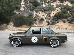 This 1974 BMW 2002 was modified by the seller in early 2016 and has been driven 2,500 miles since the build was complete. Work included a rebuilds of the 2.0-liter inline-four and 4-speed manual, upgraded suspension and brakes, Turbo front valence and flares, and new paint, while the interior was mo #BMWclassiccars