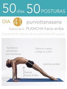 50 días 50 posturas. Día 41. Postura de la plancha hacia arriba