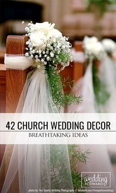 42 Stunning Church Wedding Decorations ❤ We offer a great wedding . - Decoration designs for church - Wedding Church Wedding Decorations Aisle, Wedding Cake Table Decorations, Wedding Ceremony Chairs, Church Wedding Flowers, Wedding Pews, Wedding Centerpieces, Wedding Table, Wedding Bouquets, Wedding Venues