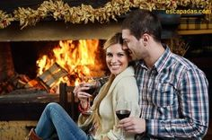 A romantic couple drinking wine beside their fireplace. - Amazing H. - Honeymoon Bedroom- A romantic couple drinking wine beside their fireplace. - Amazing H. Romantic Honeymoon, Romantic Places, Romantic Getaway, Romantic Couples, Most Romantic, Romantic Travel, Honeymoon Ideas, Cabin Activities, Smoky Mountains Cabins
