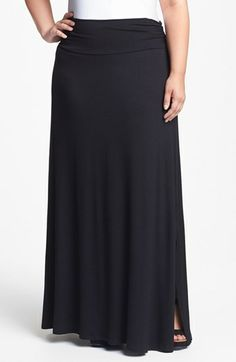 Bobeau Knit Maxi Skirt (Plus Size) available at #Nordstrom