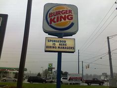Looks like Spongebob has a lot of power at Burger King
