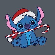 Christmas Stitch by ellador Xmas Wallpaper, Cute Christmas Wallpaper, Wallpaper Iphone Disney, Cute Disney Wallpaper, Cute Cartoon Wallpapers, Christmas Background, Lilo Ve Stitch, Lilo And Stitch Shirt, Disney Kunst