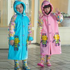 Poncho New Waterproof Kids Rain Coat For Children Raincoat Rainwear/Rainsuit Kids Boy Girl Robot Style Raincoat  #Affiliate
