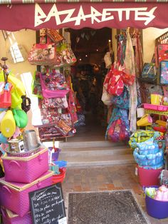 Les boutiques de Cassis, #provence, #France [I would love to have a snazzy store like this]