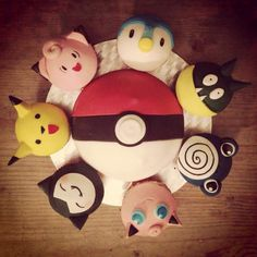 Pokemon. Rainbow cake.