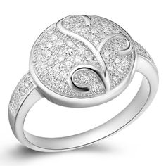 Platinum Plated Rings Oval Shaped Rings by UloveFashionJewelry, $10.21