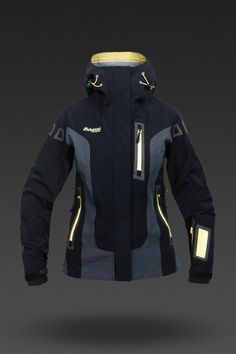 Bergans of Norway Women's Svartisen Jacket in Black/Solid Charcoal/Sunny Yellow