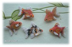 Аквариумные брошки-рыбки