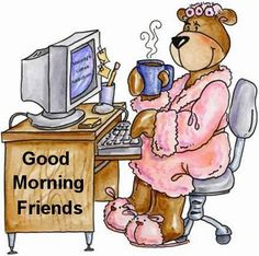 Good Morning Y'all!  Just between friends.  I thought you should see who you're pinning to most days.  LOL.  I have a nice easy rocking chair and PJ's till noon around here.  It's called Fibro, ... .