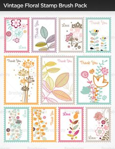 { cute pastel colored stamp }