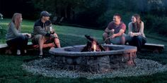 image Garden Fire Pit, Diy Fire Pit, Fire Pit Backyard, Building A Pergola, Pergola Plans, Pergola Ideas, Pergola Patio, Pergola Kits, Firepit Ideas