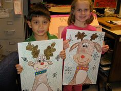 Jamestown Elementary Art Blog: Kindergarten Reindeers