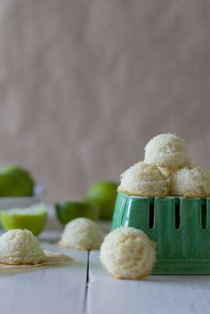 Living in Hawaii, these grain free coconut lime macaroons have quickly  become one of my favorite desserts, snacks or even breakfasts! As the sun  shines brightly here in the tropics, I often find it is too hot to bake,  sochocolate macaroonsandice creamare often our go to treats!  A dense cookie made mostly with shredded coconut, these grain free  macaroons are slightly sweetened with honey and fresh lime juice. If you  are new to grain free baking, macaroons are the perfect way to start as you  really can'tgo wrong! Make these with friends or your children for a fun  dessert making adventure.  Nothing says summer like sweet coconut and tangy limes. A lime's fragrant  bright green zest coupled with its tart juice provides a refreshing flavor.  The healthy fats found in this tart dessert will also provide a natural  source of sunscreen and keep your complexion safe throughout the sunny  days!