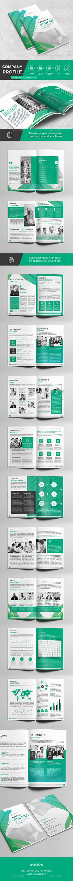 Company Profile Brochure 14 Pages A4 Company profile, Brochures - corporate profile template