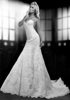 Sexy prinsessen trouwjurk van kant op maat bruidsjurk bruid