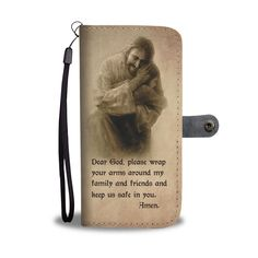 Christian wallet cases- christian gift idea-This Wallet Phone Case With Beautiful Painting Of Christ And A Prayer is a perfect gift for friends, family and your loved one Bible Verses About Strength, Quotes About Strength In Hard Times, Bible Verses About Love, Quotes About God, Prayer Quotes, Bible Verses Quotes, Encouragement Quotes, Biblical Quotes, Christian Gifts