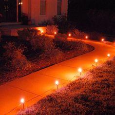 halloween outdoor lighting electric pathway lights orange 10 count new release generic - Halloween Pathway Lights