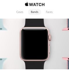 Apple Watch 2-series 2 with gps...rose gold or solid black case, sport bands (pink, black, white)