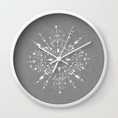 A personal favorite from my Etsy shop https://www.etsy.com/listing/454270314/grey-modern-wall-clock-grey-wall-clock