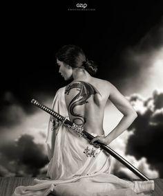 Lada Katana by Gonzalo Villar on Ronin Samurai, Female Samurai, Samurai Art, 47 Ronin, Samurai Warrior, Samurai Swords, Aikido, Tattoo Guerreiro, Katana Girl