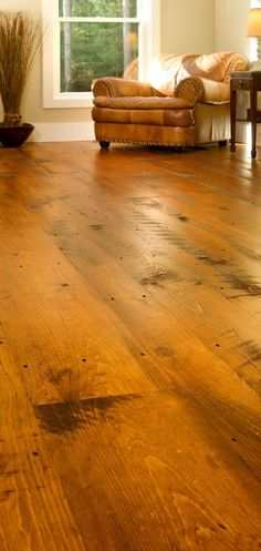 """Beautiful Wide Plank Pine Floor, """"Hit or Miss"""" White Pine, $8.85 7"""" wide unfinished"""