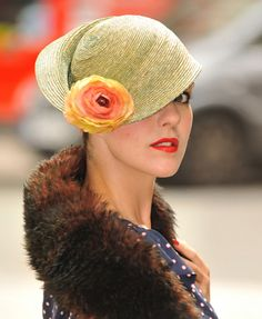 Jessica Avellenga drew upon Dali's inspiration to make this Digby wedding cloche hat in straw.