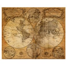 Mappemonde World Map Decal - Walls Need Love. for my map-lovin man