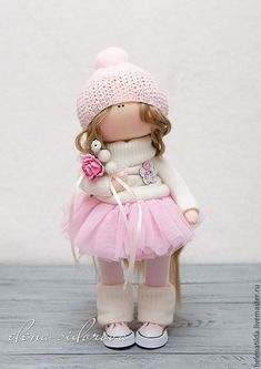 Коллекционные куклы ручной работы. Ярмарка Мастеров - ручная работа. Купить Зефирная девочка. Handmade. Кремовый, подарок, сетка, пуговки