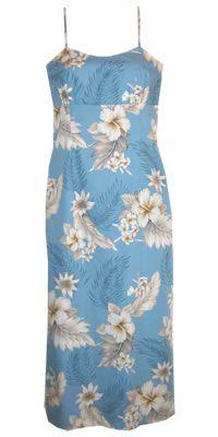 kuuipo sky wild long noodle hawaiian dress