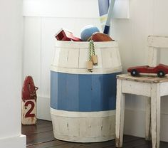 barrel toy storage