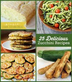 Overwhelmed with zucchini??? I collected 25 Delicious Zucchini Recipes for your culinary inspiration! #zucchinirecipes