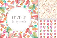 These Watercolor Hearts Backgrounds are Super Colorful and Cute! Download em…