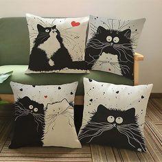 Cartoon Cat Lovers Cushions