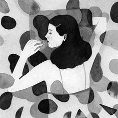 A sleeping beauty in black & white and many more illustrated loveliness by Monica Garwood, on the blog today!