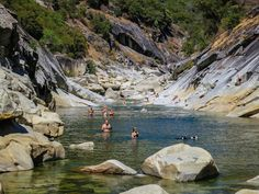 Hoyt's Crossing swim and scramble on the S. Fork Yuba River