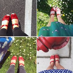 looks like red peep toes are the most instagrammed clog at the moment! We really do enjoy looking through all the photos you tag us in! #fromwhereistand #shoeselfy photos by @charzilla7 @vickypeaface @maggierah @abbeyrose0704