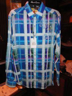 Robert graham seattle blue shirt Medium #RobertGraham #ButtonFront