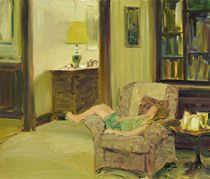 Bed Time by David Hettinger Oil ~ 12 in x 14 in