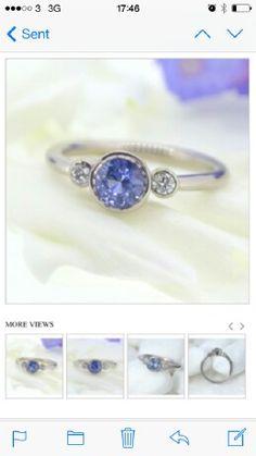 Fine quality sapphire diamond 3 stone ring