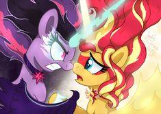 Equestria Girls - Evil Twilight And Good Sunset by Joakaha on DeviantArt