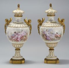 Sevres Porcelain Urns ㊗️ART AND IDEAS : More At FOSTERGINGER @ Pinterest  ㊙️㊗️