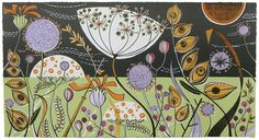 Angie Lewin is a lino print artist, wood engraver, screen printer and painter depicting the UK's natural flora in linocut and other limited edition prints. Lino Art, Woodcut Art, Linocut Prints, Art Prints, Lino Print Artists, Angie Lewin, Limited Edition Prints, Illustration Art, Illustrations
