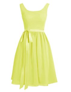 Albizia Womens Straps Bowknot Sash Knee Length Chiffon Party Dresses *** You can get more details here : cocktail dresses