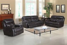 Metro Traditional Wood Steel Foam Polyester 3pc Power Living Room Set