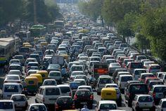 Congestion lasted 11 days in China. Congestionamento durou 11 dias na China.