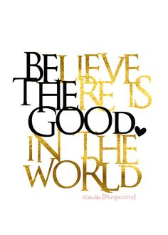 Perspective: Be The Good Printable