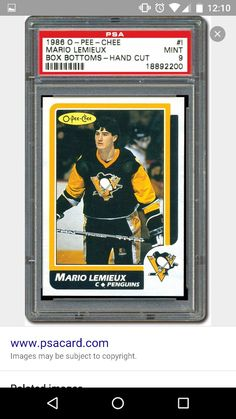 Hockey Cards, Baseball Cards, Mario Lemieux, Collector Cards, Nhl, Pittsburgh, Penguins, Legends, Sports