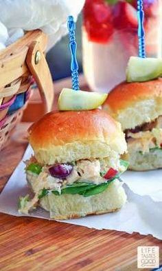 Chicken Salad Sliders | Perfect for lunch, dinner, or a fun picnic outing with the family!